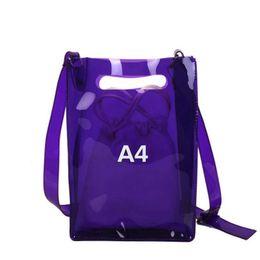 $enCountryForm.capitalKeyWord Canada - New Women Summer Beach Bag Pvc Transparent Bags Fashion Shoulder Waterproof Plastic Composite Crossbody Messenger Bags Lw-159