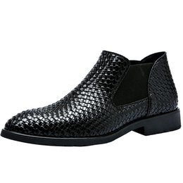 $enCountryForm.capitalKeyWord NZ - Spring And Autumn Hand-woven Leather Boots Leather Korean Men's Boots Martin Boots Men's Business British Tide Size 38-48