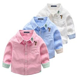 Blouse Cotton Baby Boy Australia - Autumn Little Boys Shirts Blusas Baby Tops Tee Cotton Children White Boy Blouse Shirt Toddler Long Sleeve Shirt Kids Clothes