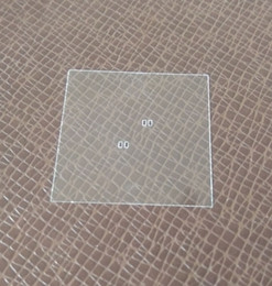 Wholesale ultra thin quartz glass plate with square hole,photo mask