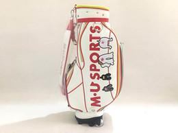 Free wheel sport online shopping - Brand New M U SPORTS Golf Bag White Color M U SPORTS Standard Golf Clubs Bag Waterproof With Wheel EMS