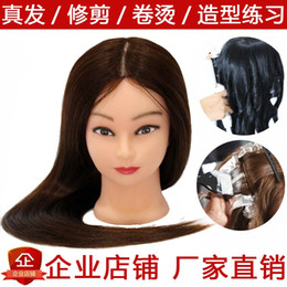 $enCountryForm.capitalKeyWord Australia - The promotion real wigs mannequin mannequin perm makeup really on her head hair wig