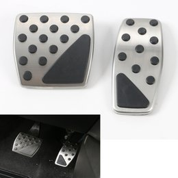 stainless accelerator pedal Australia - YAQUICKA Car Stainless Steel and ABS Accelerator Brake Foot Rest Pedals Fo Renegade 2015-2016 Car Styling Auto Accessories