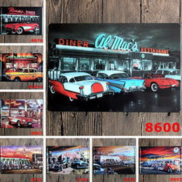 pub cafe bar wall decoration UK - New Car Bus Motorcycle Signs Retro Metal Iron Plate Painting Wall Decoration for Bar Cafe Home Club Pub Beer 20*30cm