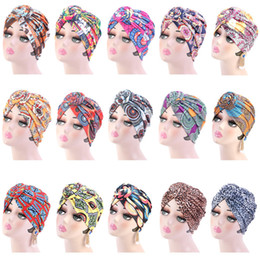 Discount green turban Hot Sale Adult Women Men Headband Cap Spring Winter Outdoor Party Street Pleated Elastic Turban Hat Knot Head Wrap Hair Accessories