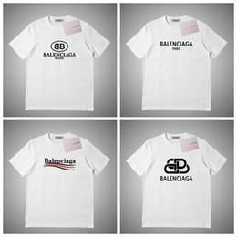 Balenciaga Mens Designe maglietta di lusso degli uomini Estate T Donne shirt Hip Hop Bianco Rosa Grigio manica corta T-shirts S-2XL # 73.354 in Offerta