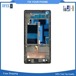 sony xperia screen repair Australia - For Sony Xperia C3 S55T Front Screen Frame Board Cheap Replacemenrt Repair Part Frame Bezel Housing Cover A Frame