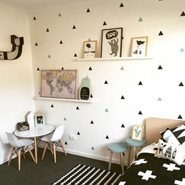 Nursery Wall Stickers For Boys Australia - Baby Boy Room Little Triangles Wall Sticker For Kids Room Decorative Stickers Children Bedroom Nursery Wall Decal Stickers