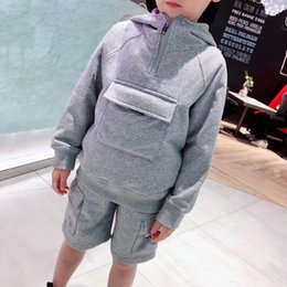 Wholesale chinese clothing baby boys for sale - Group buy Autumn Spring Baby Sets Baby Boys Hoodie Tops and short Pants Outfits Set Infant Clothes