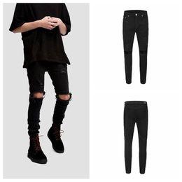 $enCountryForm.capitalKeyWord Australia - Kanye Mens Ripped Pencil Jeans Designer Summer Zipper Fly Mid Waist Jeans Fashion Casual Mens Clothing