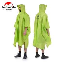 poncho tents Australia - Naturehike 3 in 1 Multifunction Poncho Raincoat For Hiking Fishing Mountaineering NH17D002-M