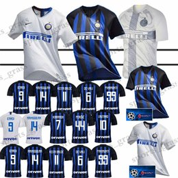 701bd605 ICARDI LAUTARO Martinez Inter Milan Christmas promotion soccer jersey  PERISIC NAINGGOLAN POLITANO league jersey 18 19 football kit shirt