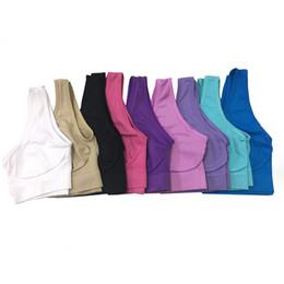 Venta al por mayor de Sujetador deportivo de yoga Trajes de alta calidad de una sola capa Chaleco deportivo de las mujeres al aire libre Ropa de deporte sin costura Ropa para correr Diseñador