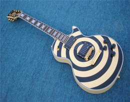 $enCountryForm.capitalKeyWord UK - Free shipping,Zakk wykde custom shop Electric Guitar rosewood fingerboard cream black bulleye guitar,free shipping
