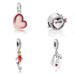 $enCountryForm.capitalKeyWord Australia - 2019 New Top Sale 925 Sterling Silver Pandora Path to Love Charm Rose Pink Asymmetric Heart Arrow Clear cz Good Fortune Carp Beads