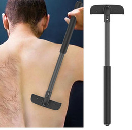 Back Hair Men NZ - STOCK Adjusted Manual Back Hair Shaver Remover Long Handle Razor Men Shaving All Body Parts Hair Blade Remover