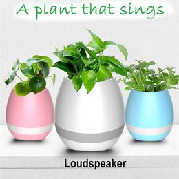 Pot Speaker Australia - Gift Touch Sensitive Flowerpot Music Flower Pot with LED LightCreative Music Vase Smart Music Flowerpot Wireless Bluetooth Speaker