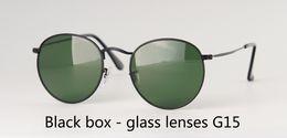 $enCountryForm.capitalKeyWord Australia - Wholesale-High quality Mens Womens Sunglasses Brand Designer metal frame Glass Lens Round sun glasses uv400 Goggle With free Case and label