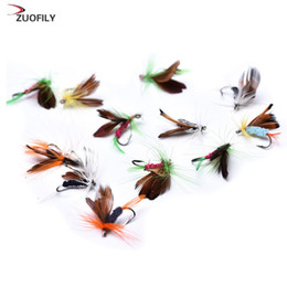 Chinese  12pcs set Various Dry Fly Fishing Lure Trout Salmon Dry Flies Fish Hook Lures fishing fishing pesca manufacturers