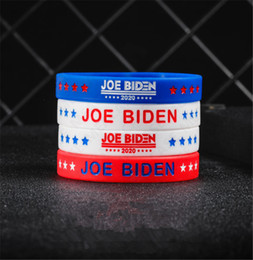 mix color bangle UK - Joe Biden for President Bracelet Silicone Bangles for Women Men 2020 USA America Voting Rubber Wristband Solid Color Jewerly Gifts D7211