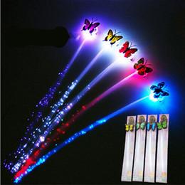 $enCountryForm.capitalKeyWord Australia - 1 pcs Glow Blinking Hair Clip Flash LED Decoration Colorful Luminous Braid Optical Fiber Wire Hairpin Christmas gift diy