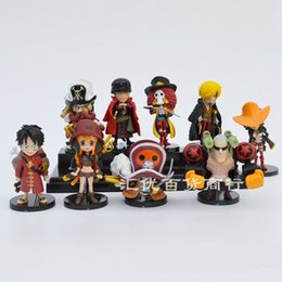 ColleCtions Cars online shopping - ONE PIECE Action Figure Cartoon Model Car Decoration Luffy Roronoa Zoro Sanji PVC Collection Full Set hy F1