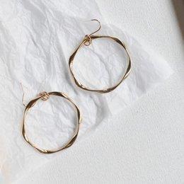 Copper CirCle hoop earrings online shopping - desigenr jewelry punk hoop earrings twisty circle round geometry shape earrings classic for women hot fashion