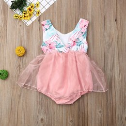 $enCountryForm.capitalKeyWord NZ - pudcoco Summer Cute baby girl Romper Jumpsuit Fashion Floral Sleeveless tulle dress Outfits One piece Sunsuit Infant 0-18 months