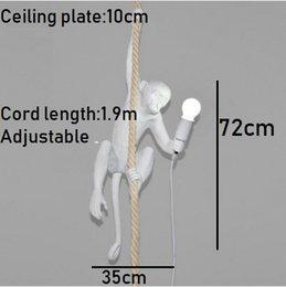 $enCountryForm.capitalKeyWord Australia - Modern Pendant Light Lamp Monkey Lamp Loft Hemp Rope Lamp Corridor Study Cafe Monkey Pendant Light Hanging Vintage Light ems