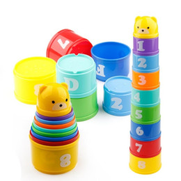 $enCountryForm.capitalKeyWord Australia - 9pcs Educational Baby Toys 6month+ Figures Letters Foldind Stack Cup Tower Children Early Intelligence