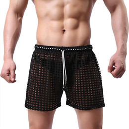 Wholesale pyjamas for mens resale online - Pajamas for men sexy pijama hombre see through mens sleepwear men s home lounge pajamas sleep shorts pyjama homme underpants