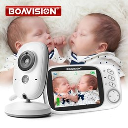 Wholesale VB603 Video Baby Monitor 2.4G Wireless With 3.2 Inches LCD 2 Way Audio Talk Night Vision Surveillance Security Camera Babysitter