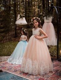 $enCountryForm.capitalKeyWord Australia - Ball Gown White Ivory Lace Applique Kids TUTU Flower Girl Dresses Party Prom Princess Gown Bridesmaid Wedding Formal Occasion Dress 32