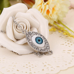$enCountryForm.capitalKeyWord Australia - Fashion Turkey Evil Eye Charms Bracelet Turkish Kabbalah Crystal Chain statement Bracelets bangles cuffs for women Halloween jewelry 160366