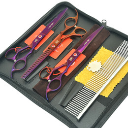 Comb blade sCissor online shopping - Meisha Professional quot Pet Scissors Dog Grooming Cutting Shears Stainless Steel Puppy Thinning Clippers with Comb Bag HB0238