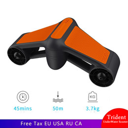 New Trident Waterproof Underwater Scooter Electric thruster Scooter Two Speed Propeller Diving Pool hand-held Diving equipment on Sale
