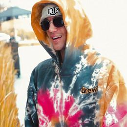 $enCountryForm.capitalKeyWord Australia - 19FW Drew House Tie Dyeing Hoodies JUSTIN BIEBER Sweatshirts Couple Top Oversize Coats Hooded Fashion Hip Hop HFLSWY278