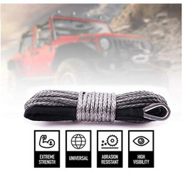 atv synthetic winch rope Australia - Free shipping 5MMx28M Gray Synthetic Winch Rope String Line off-road UHMWPE Cable Towing Rope With Sleeve for ATV UTV SUV