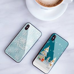diy phone case cover Australia - Mytoto Tempered Glass Phone Case for iPhone 11 Pro XS MAX XR DIY case winter Christmas tree Phone Cover for iPhone 7 8 X 6 s Plus