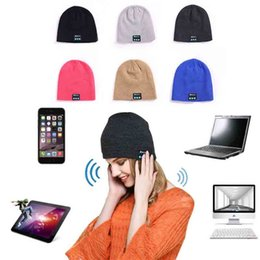 Beanies For Winter Australia - Bluetooth Beanie Wireless Knit Winter Hats Cap with Built-in Stereo Speakers and Microphone for Outdoor Sports