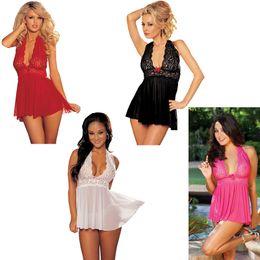 f5aa5a92c 2019 new Women Sleepwear Plus Size nightdress Sexy Underwear Sleeping Wear  Perspective Elastic Mesh Lace Clothing Sexy Pajamas two piece set