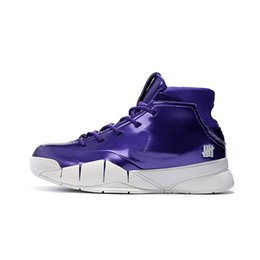 ccb4f89fb730ea Cheap mens Kobe 1 Protro basketball shoes purple white cool grey youth kids  high cut sneakers boots with box size 7 12