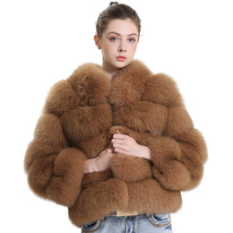 real army jacket NZ - Winter Real Fur Coat Women 2018 Fashion Thick Natural Fur Jacket Luxurious Overcoat Female Ladies Real Jacket