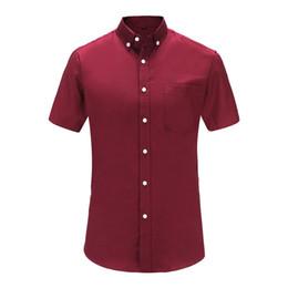 $enCountryForm.capitalKeyWord Australia - 2019 New Arrival Brand Men's Summer Business Shirt Short Sleeves Turn-down Collar Tuxedo Shirt Men Shirts Big Size 3XL