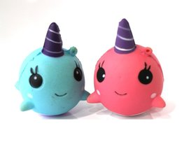 Kids Dolphin Toys Australia - Decompression Toys Stress ball Cute PU Squishy Super Slow Rising Jumbo dolphin Squishy Squeeze Phone Strap Kids Fun Toy Gift 2018 in stock