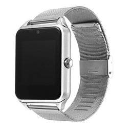 $enCountryForm.capitalKeyWord Australia - Bluetooth smart watch phone Z60 stainless steel support SIM card TF card camera fitness tracker smart sports watch for IOS Android