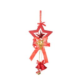 gift craft christmas Australia - Pentagram Bell Christmas Tree Pendant Christmas Pendant Craft Xmas Tree Decor Gifts Ornaments Home Party
