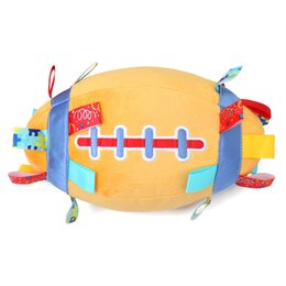 $enCountryForm.capitalKeyWord UK - Baby Rugby hand catching plush toy ball built-in bell baby learning crawling exercise toy Infant early education puzzle plush cloth play