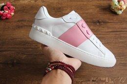 Shoe Box Sales NZ - wholesale cheap mens womens luxury designer sneakers open shoes with top quality 9 colors original box size 34-46 for sale