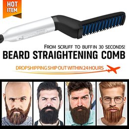electric hair straightening Australia - Straightener Brush Hairdressing Comb Multifunctional Man Woman Hair Straightening Brush Beard Electric Comb for Men For Men